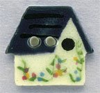 86172 - White Birdhouse 3/4in x 3/4in - 1 per pkg